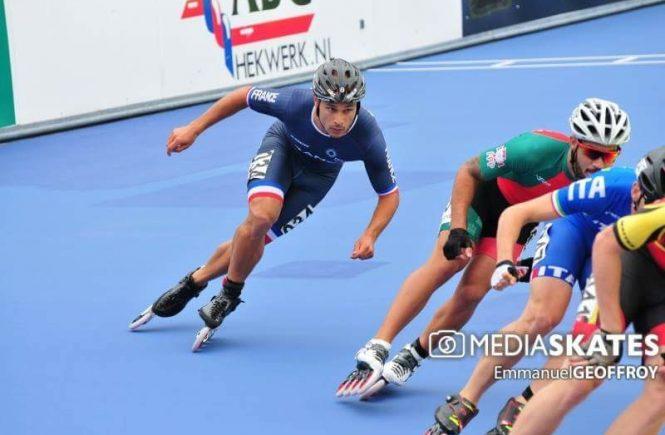 Edwin DE SOUZA, Equipe de France senior de roller de vitesse.